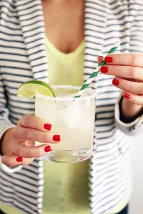 margarita with festive straw